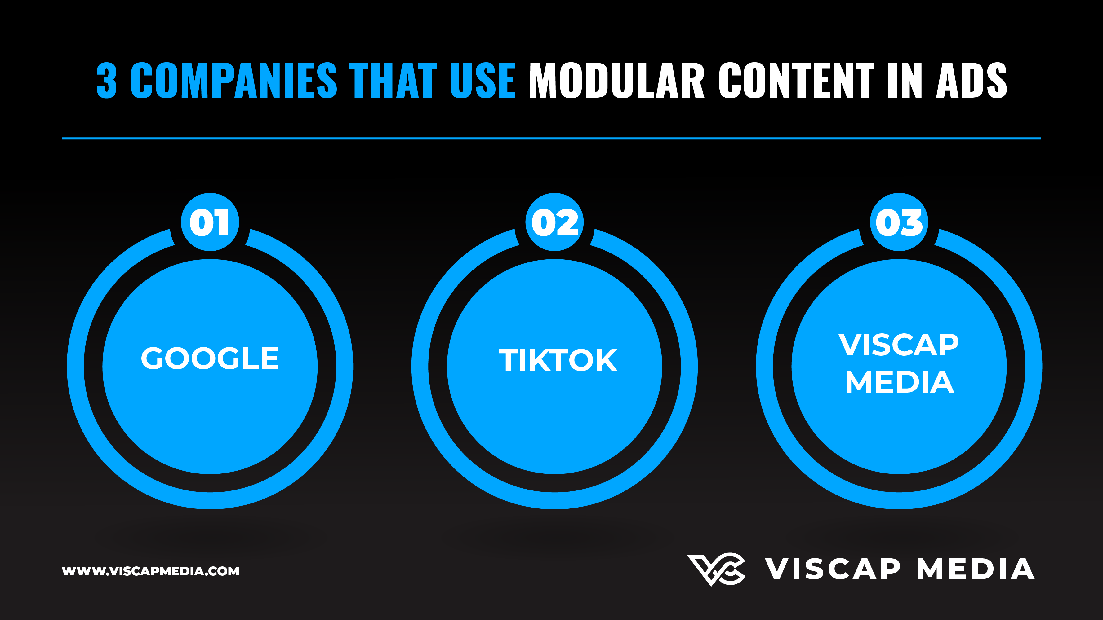3 Companies That Use Modular Content In Ads Infographic