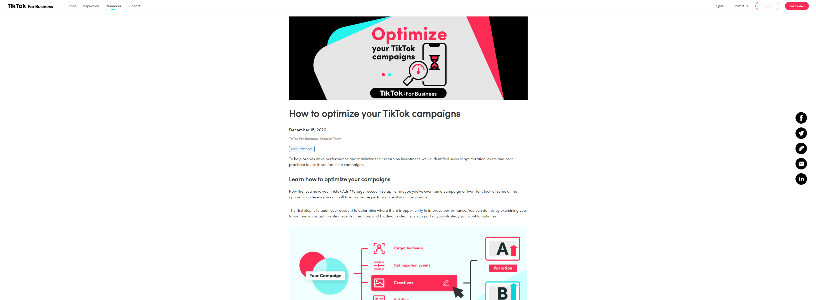 Advertise On TikTok Campaign AI Optimized Ads