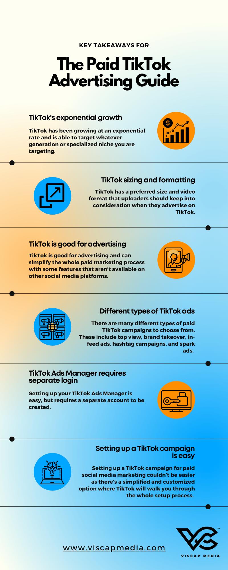 Key Takeaways Infographic advertising on TikTok campaign Ads