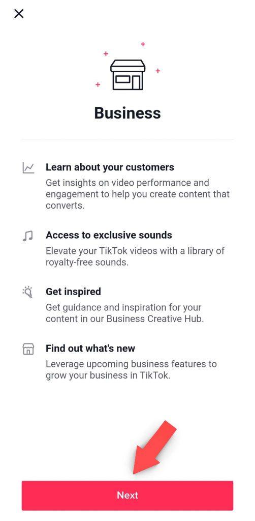 Organic Marketing Screenshot TikTok Linkin Bio Business Account Step 4