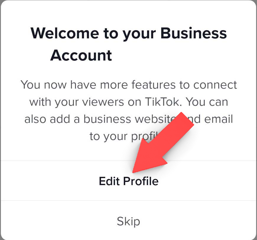 Organic Marketing Screenshot TikTok Linkin Bio Business Account Step 5