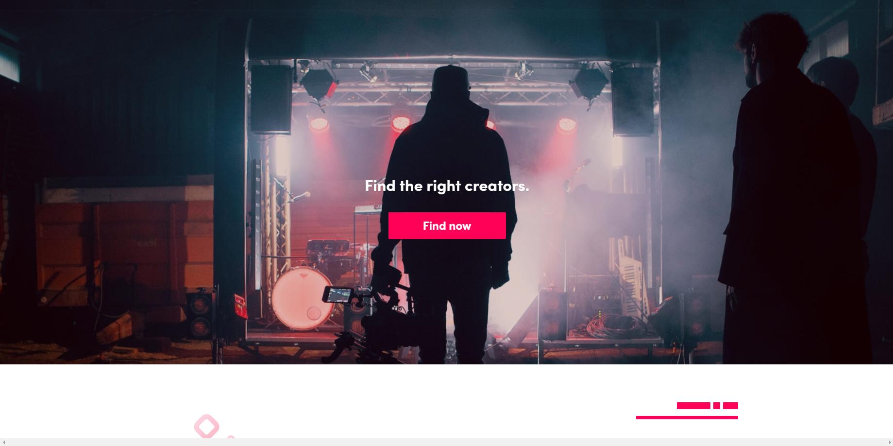 TikTok Creator Marketplace Home Page Screenshot