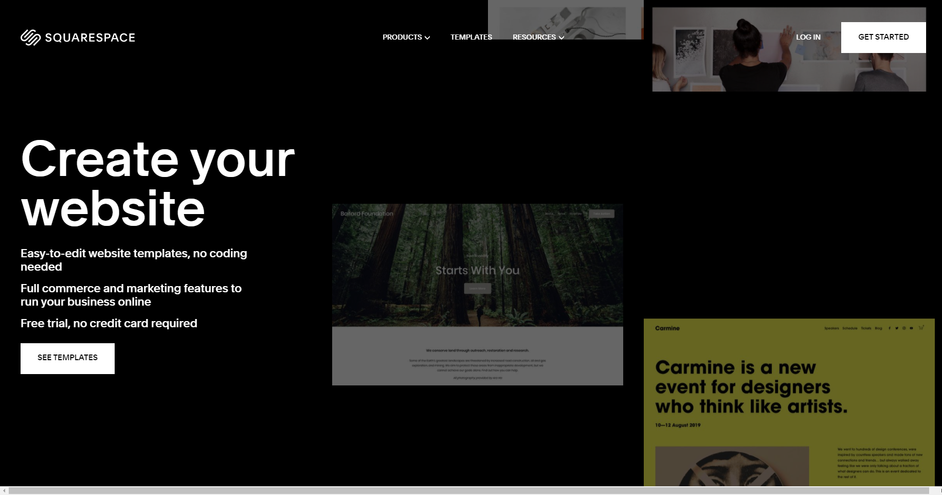 eCommerce software and marketing square screenshot