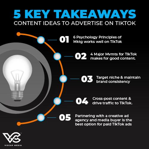 5 Key Takeaways for Content Ideas to Advertise on TikTok